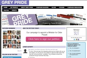 Image of the Grey Pride microsite homepage