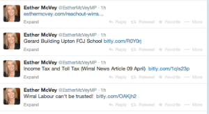 Esther McVey Memorial Tweets