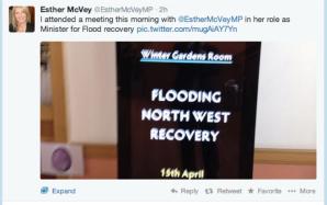 Esther McVey third person tweet