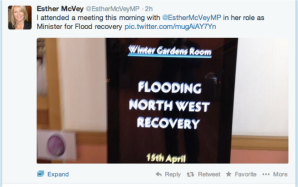 Esther McVey third person tweet