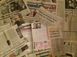 Section 28 Scottish media coverage